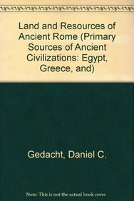 9780823974849: Land and Resources of Ancient Rome (Primary Sources of Ancient Civilizations: Egypt, Greece, and)