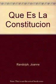 9780823987184: Que Es La Constitucion