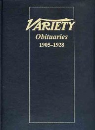 9780824008352: Variety Obituaries, Volume I 1905-1928