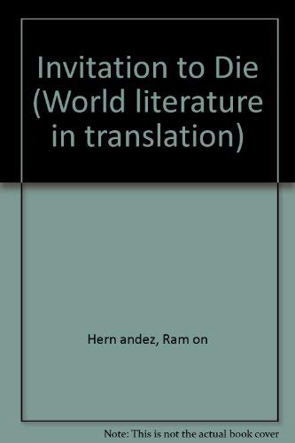 9780824029951: INVITATION TO DIE (World Literature in Translation)