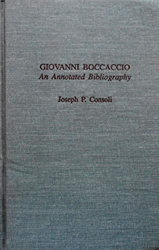 9780824031473: GIOVANNI BOCCACCIO ANNOT BIBLI (Garland Medieval Bibliographies)