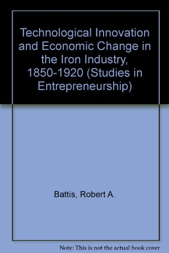 9780824033941: Technological Innovation and Economic Change in the Iron Industry, 1850-1920 (Studies in Entrepreneurship)