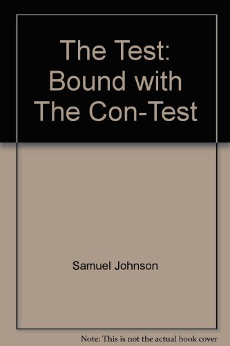 9780824034313: The Test: Bound with The Con-Test