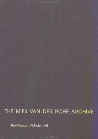 9780824051747: The Mies Van Der Rohe Archive: Resor House: 007