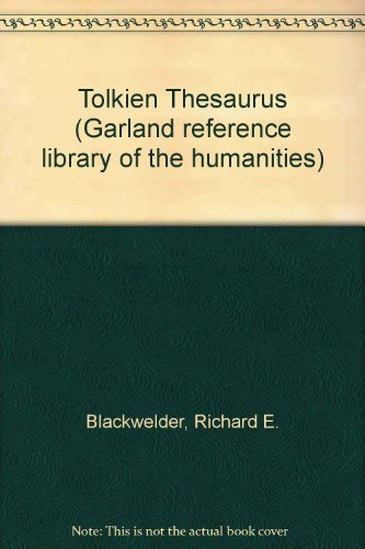 9780824052966: Tolkien Thesaurus (Garland Reference Library of the Humanities)