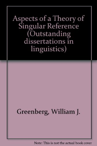 9780824054298: Aspects of a Theory of Singular Reference