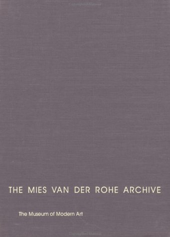 9780824059934: The Mies Van Der Rohe Archive: Library & Administration Building: 009