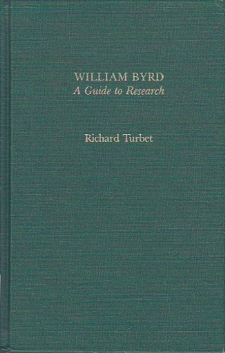 William Byrd. A guide to research.