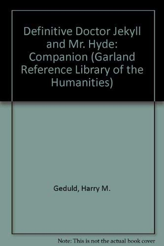 9780824094690: DR JEKYLL & MR HYDE (Garland Reference Library of the Humanities)