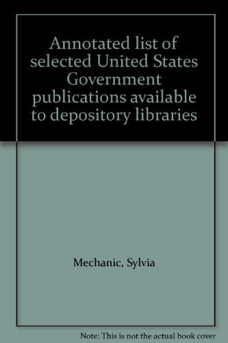 9780824204051: Annotated list of selected United States Government publications available to depository libraries