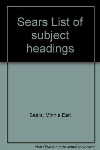 9780824204457: Sears List of subject headings
