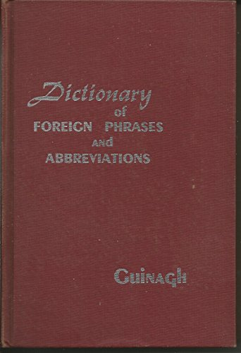 9780824204600: Dictionary of foreign phrases and abbreviations