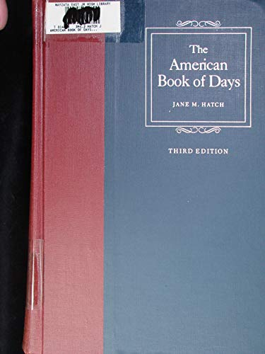9780824205935: American Book of Days