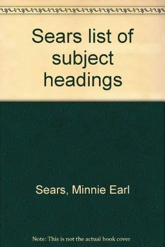 9780824206109: Sears list of subject headings