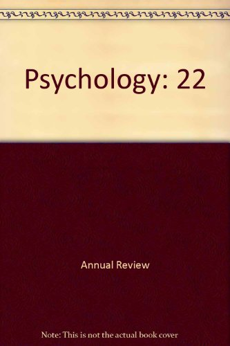 9780824302221: Annual Review of Psychology