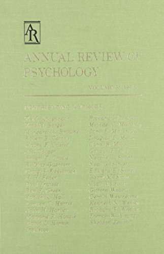 Annual Review of Psychology: 1984: Mark R. Rosenzweig,