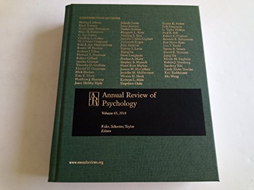9780824302658: 65: Annual Review of Psychology 2014