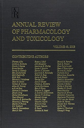 9780824304430: Annual Review of Pharmacology and Toxicology: 2003