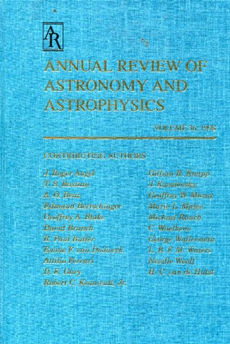 Annual Review of astronomy and Astrophysics Vol 36