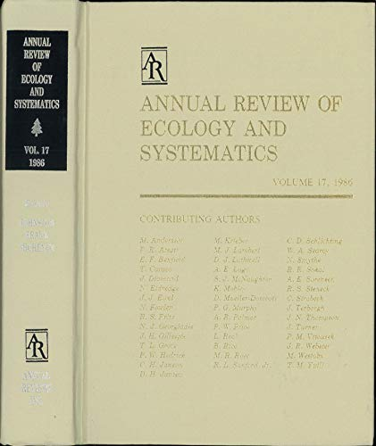 9780824314170: Annual Review of Ecology and Systematics: 1986: 17 (Annual Review of Ecology & Systematics)