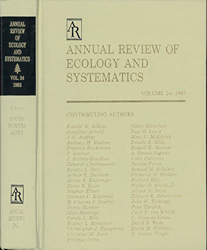 9780824314248: Annual Review of Ecology and Systematics: 1993 (Annual Review of Ecology & Systematics)
