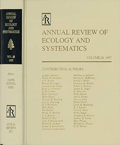 9780824314286: Annual Review of Ecology and Systematics: 1997 (Annual Review of Ecology & Systematics)