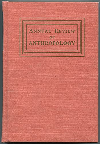 9780824319014: Annual Review of Anthropology