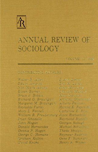 Sociology: 12 (Annual Review of Sociology): Annual Review