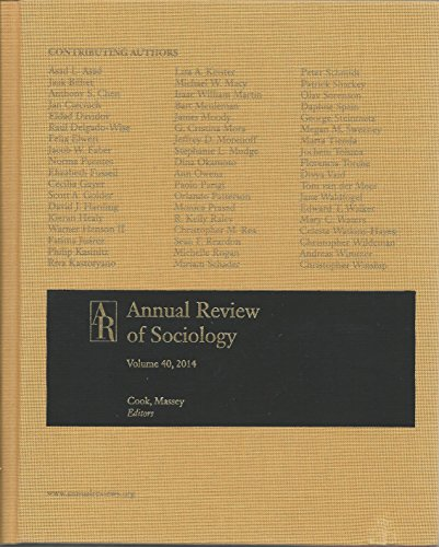 Annual Review of Sociology 2014 (Hardback)
