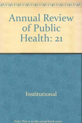 9780824327217: Annual Review of Public Health: 2000