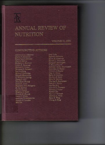 9780824328214: Annual Review of Nutrition: 2001