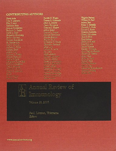 Annual Review of Immunology; V.28, 2010 (Hardback)