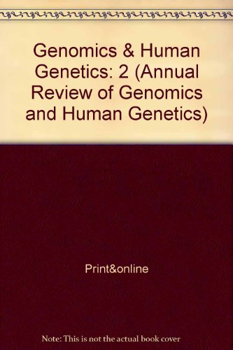 9780824337025: Annual Review of Genomics and Human Genetics: 2001