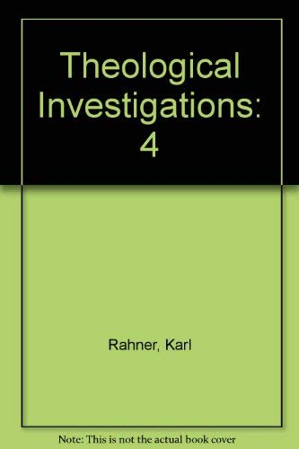 9780824503802: Theological Investigations Volume IV