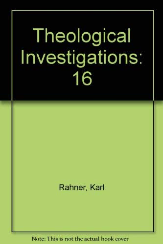 9780824503925: Theological Investigations: 16