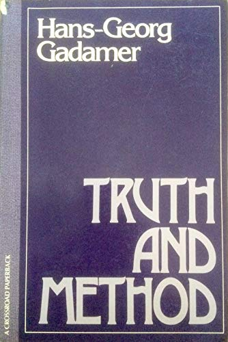 9780824504311: Truth and Method