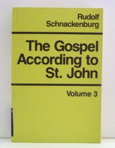 9780824509996: The Gospel According to St. John, Vol. 3