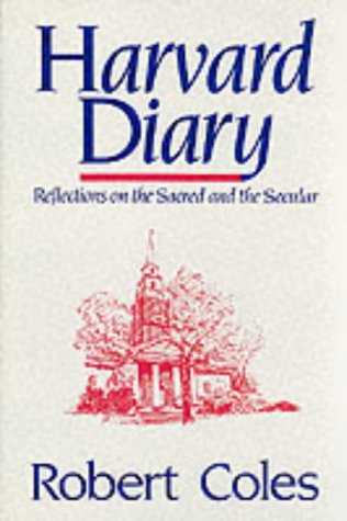 9780824510343: Harvard Diary, Vol. 1: Reflections on the Sacred and the Secular