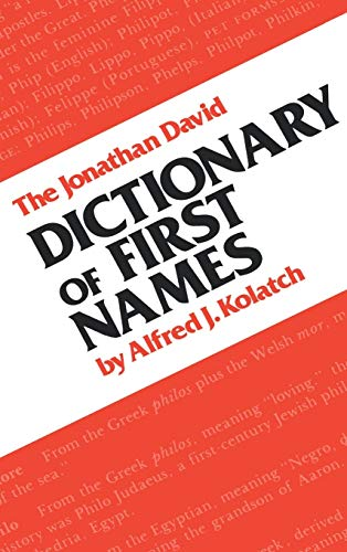 9780824602475: The Jonathan David Dictionary of First Names