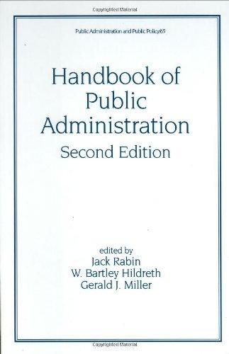 9780824700867: Handbook of Public Administration, Second Edition (Public Administration and Public Policy)