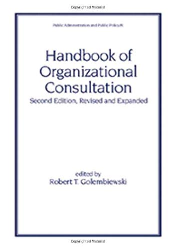9780824703219: Handbook of Organizational Consultation, Second Editon (Public Administration and Public Policy)