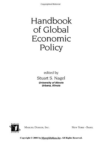 9780824703288: Handbook of Global Economic Policy (Public Administration and Public Policy)