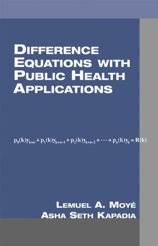 9780824704476: Difference Equations with Public Health Applications (Chapman & Hall/CRC Biostatistics Series)