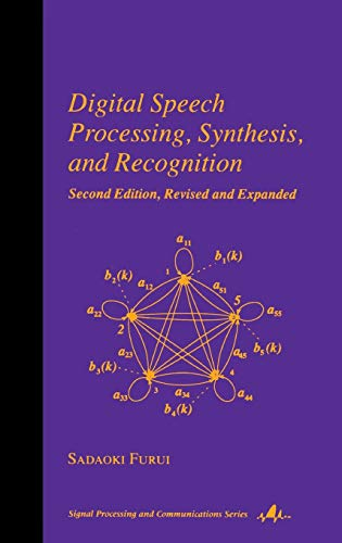 9780824704520: Digital Speech Processing: Synthesis, and Recognition, Second Edition, (Signal Processing and Communications)