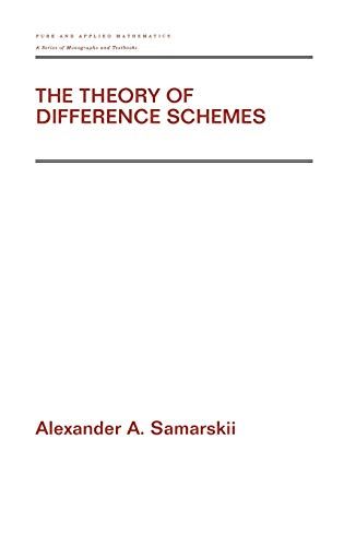 9780824704681: The Theory of Difference Schemes (Pure & Applied Mathematics)