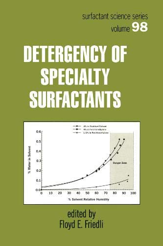 Detergency of Specialty Surfactants (Surfactant Science) (v. 98)