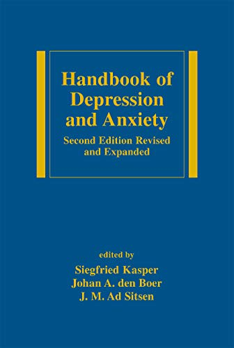 9780824708726: Handbook of Depression and Anxiety: A Biological Approach, Second Edition (Medical Psychiatry Series)