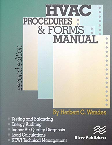 9780824709235: HVAC Procedures & Forms Manual, Second Edition