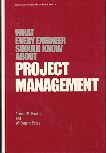 9780824717186: 009: What Every Engineer Should Know About Project Management