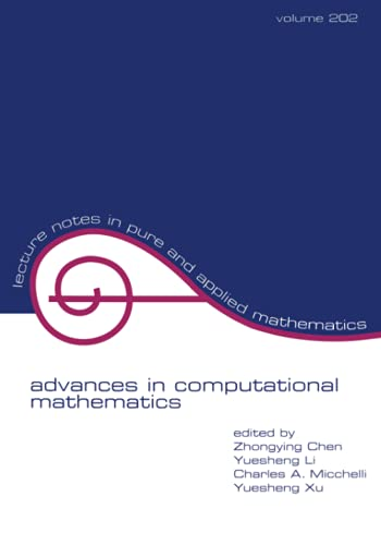 9780824719463: Advances in Computational Mathematics (Lecture Notes in Pure and Applied Mathematics)